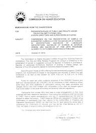 memo from ched central office ched caraga s memo from ched central office