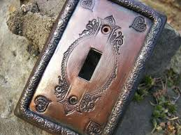 copper light switch covers antique decorative plate by plates a96