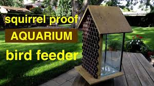how to make a squirrel proof bird feeder from an aquarium
