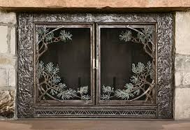 modern style wood fireplace screens fireplace screen doors antique italian goldguild wood