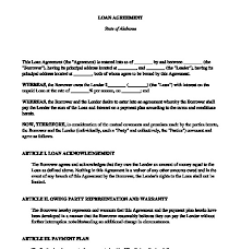 Personal Loan Agreements Custom Personal Loan Agreement Template Simple Money