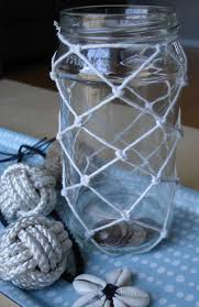 Things To Put In Jars For Decoration Turn An Ordinary Glass Jar Into A Nautical Coin Jar By Decorating 53