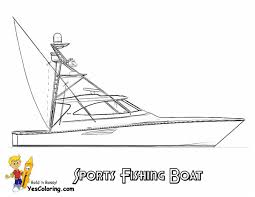 anchor coloring page sportfishing boat coloring picture to print at yescoloring