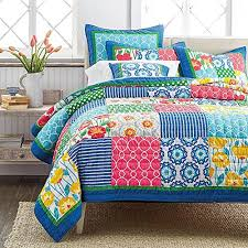 Funky Bright Colored Bedding - Stop Searching for a Minute, Check ... & ... Tache 3 Piece Cotton Patchwork Dreamy Meadow Floral Quilt Bedspread  Set, King Adamdwight.com