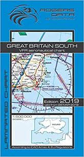 Caa England South Chart Great Britain South Rogers Data Vfr Aeronautical Chart 500k