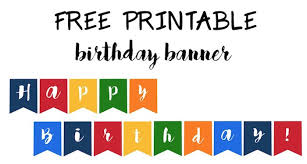 Happy Birthday Signs To Print Happy Birthday Banner Free Printable Paper Trail Design