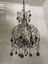 vintage italian crystal beaded murano glass chandelier 1