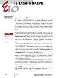 Saggio Breve Come Scrivere Un Saggio Breve Scuola Viva Campania