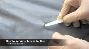 repairing a tear in leather you