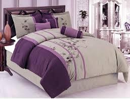 purple comforter sets bed bath plum gray on most exceptional plum and grey bedding dark purple