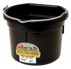 20 gallon bucket. Little Giant Flat Back Plastic 20 Gallon Bucket- Black (P20FB) Bucket
