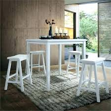 white counter height table. White Counter Height Table Set Acme Gaucho 5 Piece Dining And Chairs