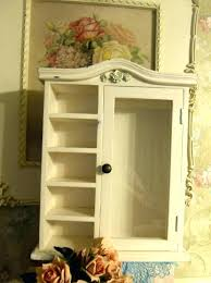 wall mounted china cabinet small wall mount curio cabinet w glass door 5 shelves shabby small