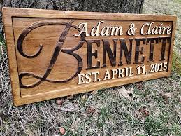 amazon personalized family name sign personalized wedding gifts wall art rustic home decor custom carved wooden signs couples 5 year wood anniversary  on personalized wood wall art with amazon personalized family name sign personalized wedding gifts