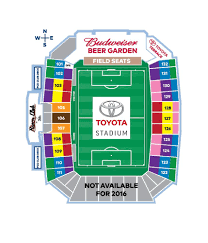 Toyota Stadium Football Seating Chart Toyota Stadium Map Fc Dallas