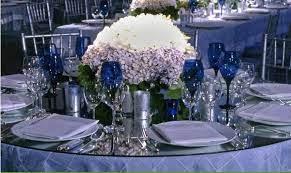 silver navy blue wedding