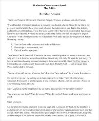 Graduation Speech Examples Adorable 48 Graduation Speech Examples Samples PDF
