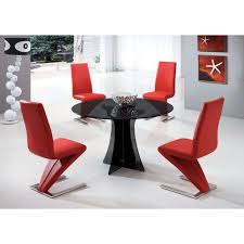 dining chairs set of seats red chair queen anne style furniture table and room black