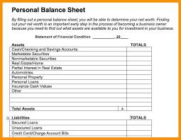 8-9 Personal Income Statement Template   Wear2014.com