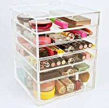 image unavailable image not available for color acrylic makeup cosmetics organizer 5 drawer
