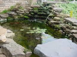 Lawn & Garden:Small Garden Pond Design Ideas With Stone Waterfall And  Beautiful Landscape Ideas