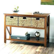 coffee table with basket storage baskets s large