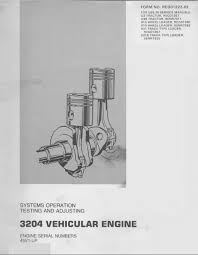 caterpillar engine specs bolt torques and manuals systems operation testing and adjustments manual cover