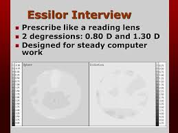 Essilor Computer Lens Fitting Chart Occupational Progressive Lenses Jim Sheedy Ppt Video