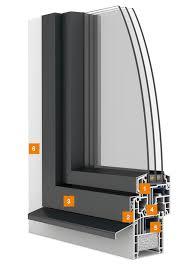 Kunststoffaluminium Fenster Egoone Bautiefe 78 Mm Egokiefer Ag