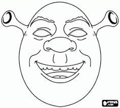 Small Picture Shrek Mask coloring page Coloring Pinterest Shrek Masking