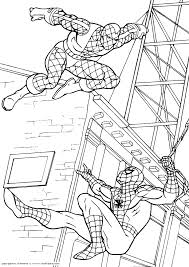 Spiderman Contro La Cosa Disegno Da Colorare Per I Bambini Disegni
