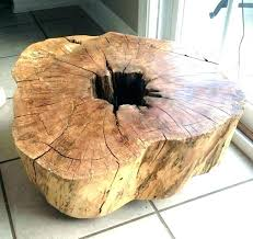 wooden stump end table log stump end table wood stump table wood stump coffee table diy