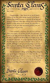 santa letter sample