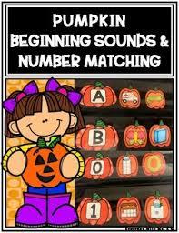 What Is Pocket Chart Fall Pumpkin Beginning Sounds Number 0 10 Pocket Chart Matching Match Ups