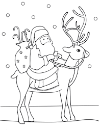 Small Picture Santa Riding Reindeer coloring page Free Printable Coloring Pages