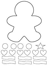 Gingerbread Man Doll Chain Template
