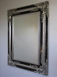 large ornate frame wall mirror