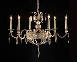 antique silver leaf faceted marquis crystal 6 light large chandeliers