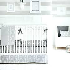 mini crib bedding sets neutral out and about gray crib bedding set solid color boys bed