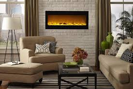 touchstone 80004 sideline in wall recessed electric fireplace