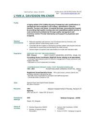 Sample Nursing Resume Nurse Resume Template Free Download On Free