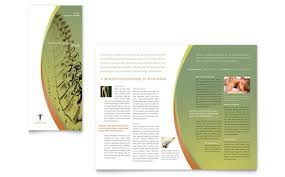 Free Tri Fold Brochure Templates Word Fascinating Free Massage Therapy Brochure Templates Portalbertbedandbreakfast