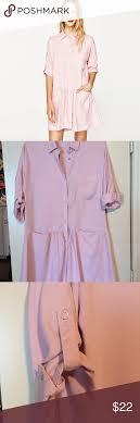Light Pink Button Up Dress Pink Zara Dress Super Cute Drop Waist Button Up Shirt Dress