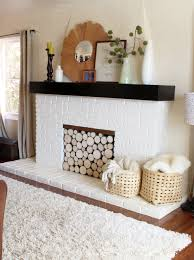 lovely decoration fake logs for fireplace a stack of wood in your fireplace
