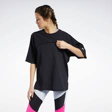 Reebok <b>Футболка Two</b>-in-<b>One</b> Tee - черный | Reebok Россия