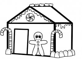 Small Picture Christmas Gingerbread House Coloring Pages Christmas Coloring