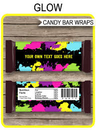 hershey candy bar wrapper neon glow hershey candy bar wrappers template