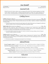 Sample Resume For Cook In Restaurant Food Prep Resume Resume Sample ...