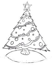 Printable Christmas Tree Free Printable Christmas Tree And Santa Coloring Pages
