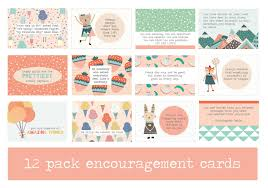 Pack Of 12 Encouraging Mini Prints Encouraging Words Positive Quotes Kids Decor
